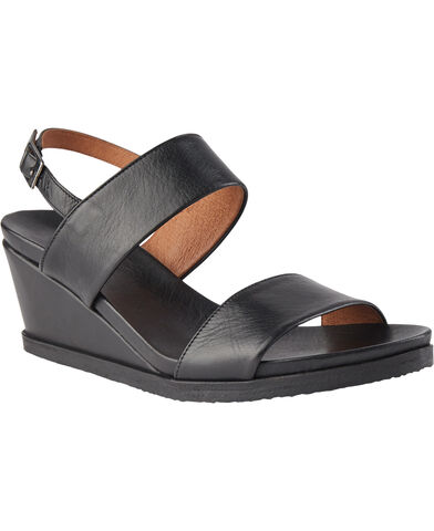 BIACAILY Leather Wedge Sandal