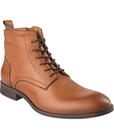 BIABYRON Leather Lace Up Boot
