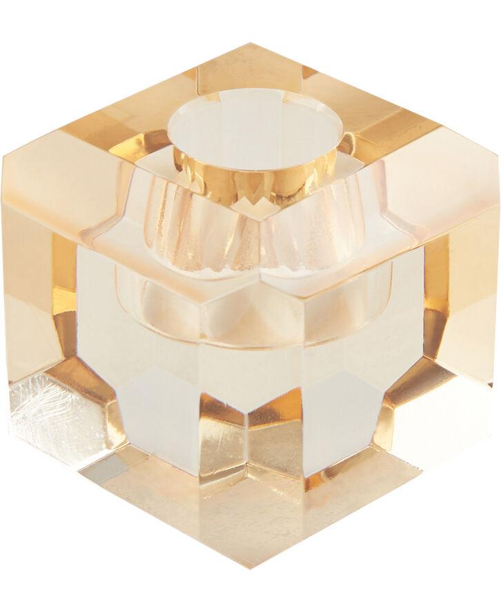 Lysestage 6x6x6 cm Amber
