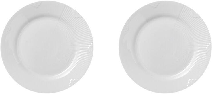 Hvid Elements 2-pak tallerkner 22 cm