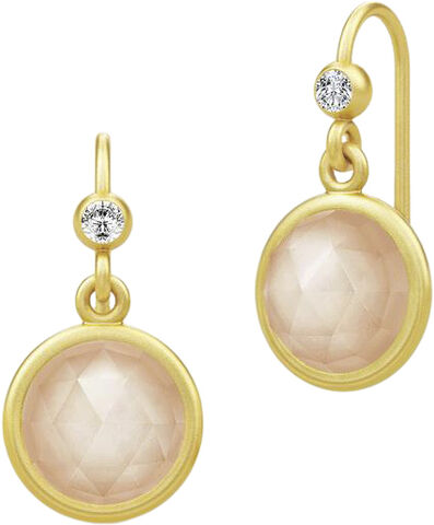 Moon  Earrings - Gold / Peach