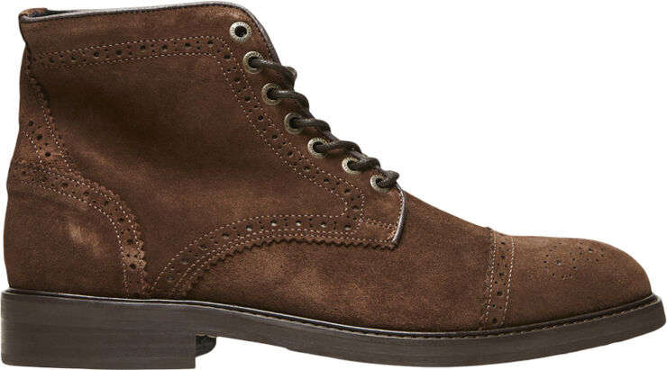 SLHFILIP SUEDE BROGUE BOOT B