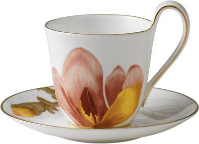 Flora 27 cl. højhankskop med underkop - Magnolia