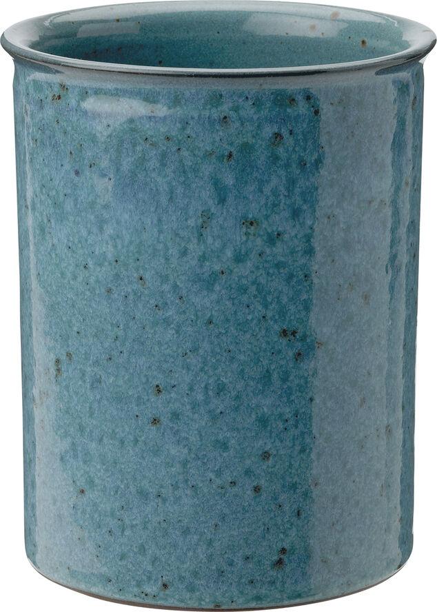 Redskabsholder, støvet blå, H 15, Ø12 cm