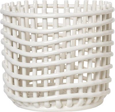Ceramic Basket - Large - Off-White