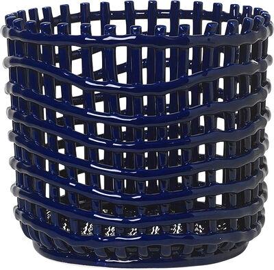 Ceramic Basket - Large - Blue
