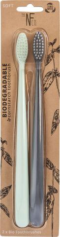 Nfco Bio Toothbrush Twin Pk - Rivermint & Monsoon Mist