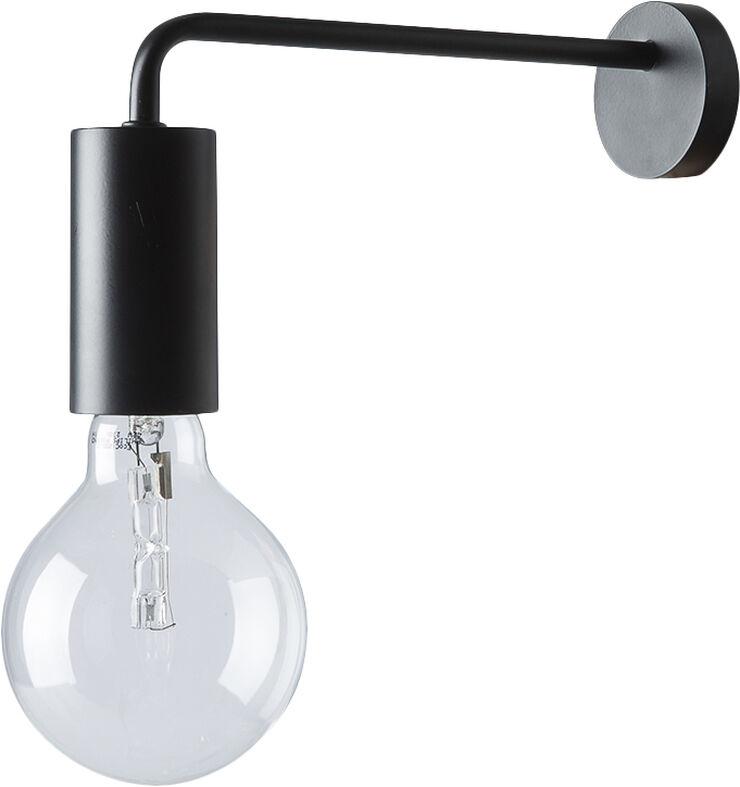 Cool væglampe mat sort