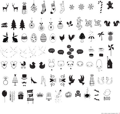 Lysboks symbol sæt - celebrations