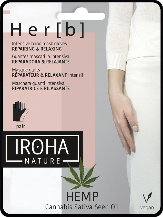 Iroha HEMP Cannabis Hand Mask Glowes