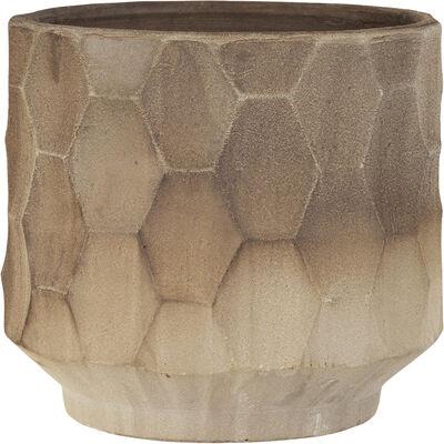 Gro Krukke med underskål Ø34 cm lys sand