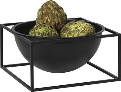Kubus Bowl centerpiece, large black