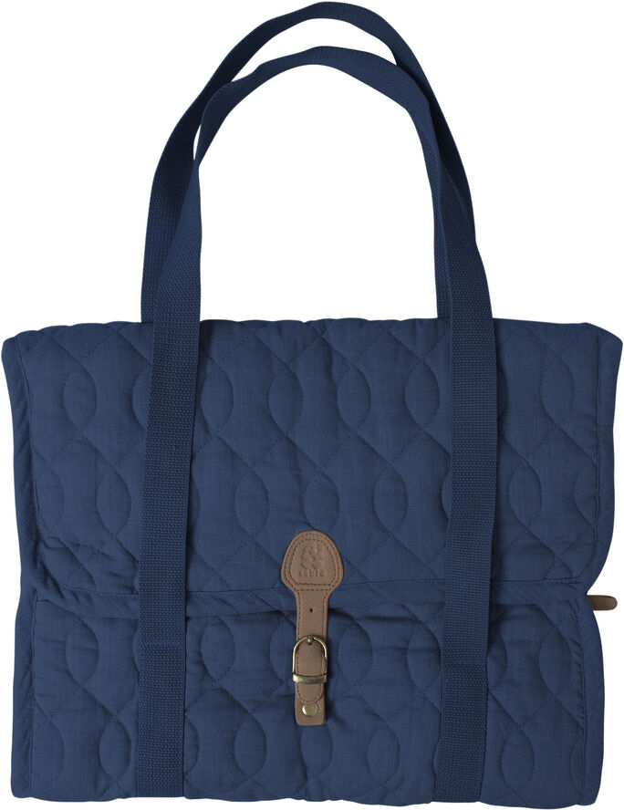 Quiltet pusletaske, royal blue