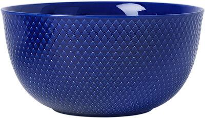 Rhombe Serveringsskål Ø22 cm mørk blå porcelæn