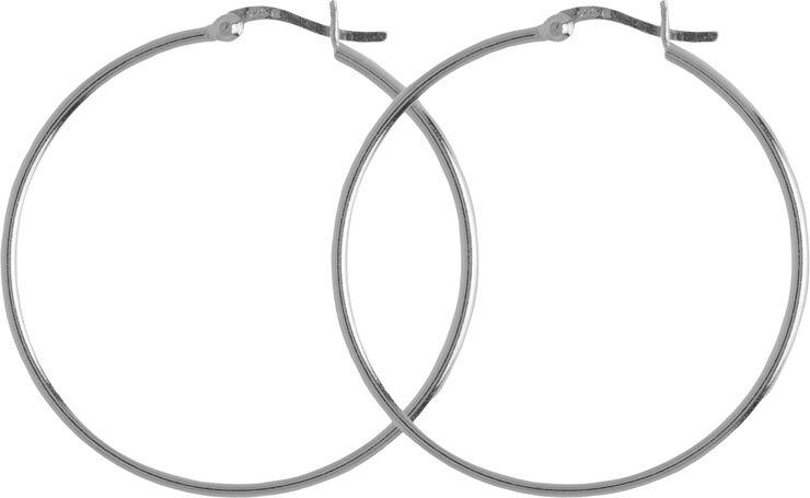 Classic Alba øreringe. Diameter: 40 mm.