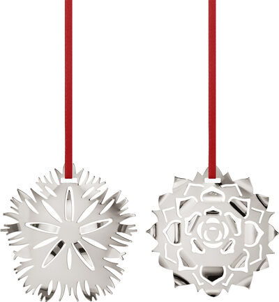 CC 2020 HOLIDAY ORNAMENT ICE DIANTHUS & ROSETTE  PAL
