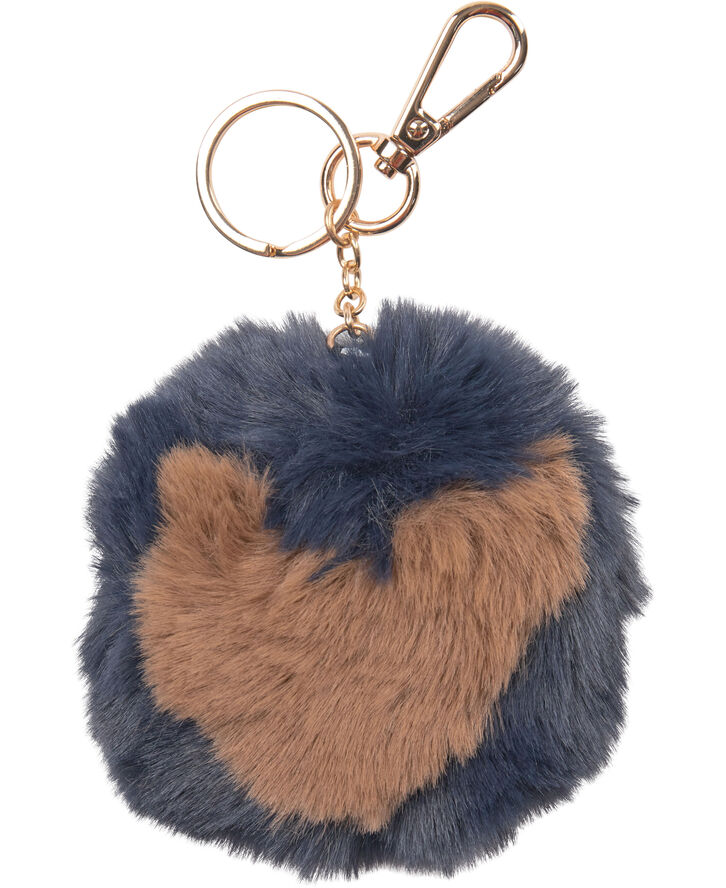 Day Faux Fur HEART Pompom
