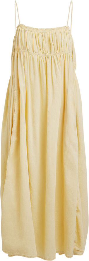 Cotton gathered bust dress