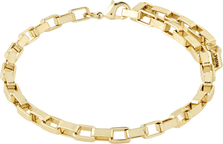 GOLD-PLATED CLARITY CABLE CHAIN BRACELET