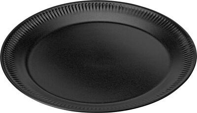 Knabstrup, tallerken, sort, Ø22 cm
