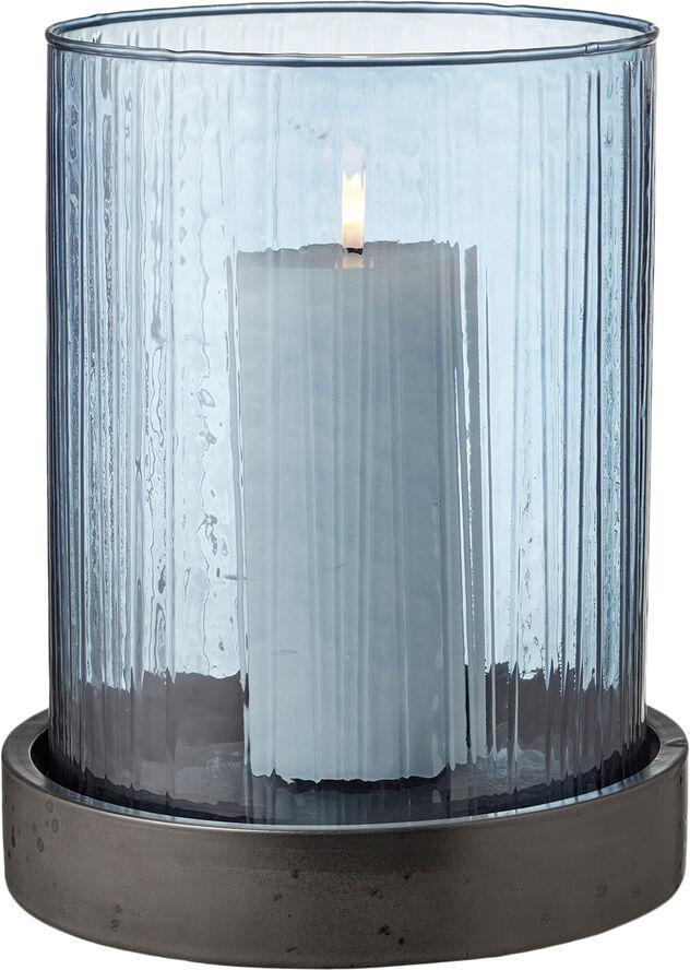 Hurricane med LED-lys 24cm Blå
