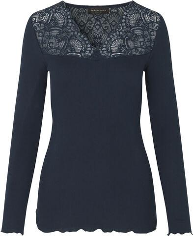 Organic t-shirt ls w/lace