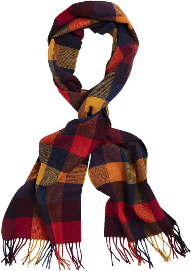 D2. MULTI CHECK WOOL SCARF
