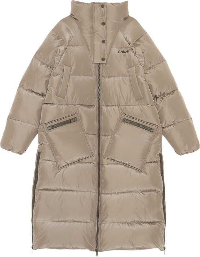 F6264 Lang oversize puf-frakke