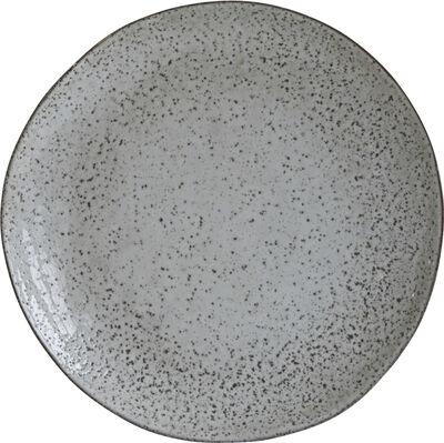 Tallerken, Rustic, Grå/Blå, dia: 27,5cm, h: 2,8 cm, Finish/F - Hc0800