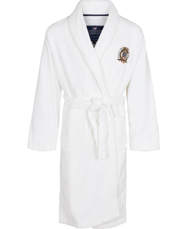 Lexington velour badekåbe hvid
