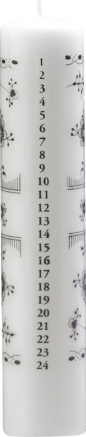 Kalenderlys Sort Mussel - 5x25cm