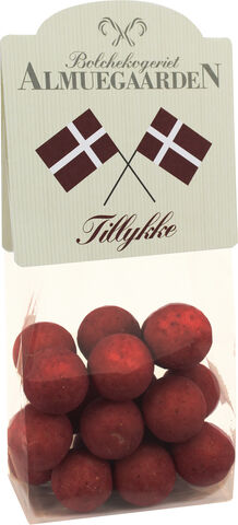 Chokolade-lakridser med hindbær (flag-anledningskort)