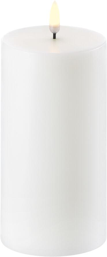 UYUNI Lighting - LED Pillar Candle - Nordic White - 7,8 x 15