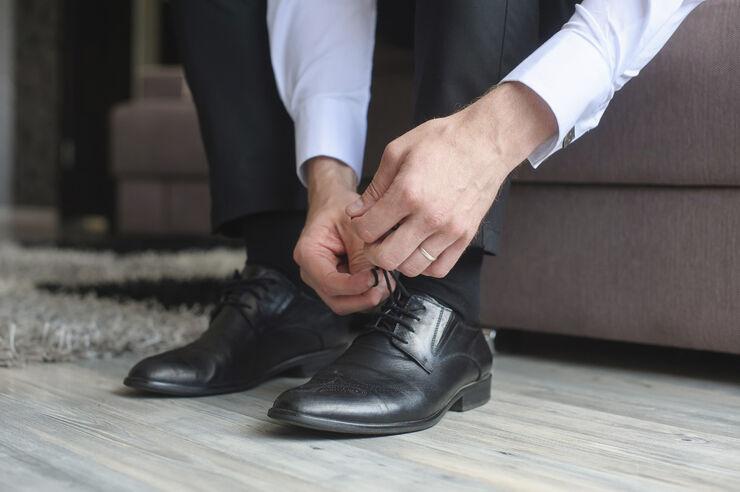 Shoe lace waxed