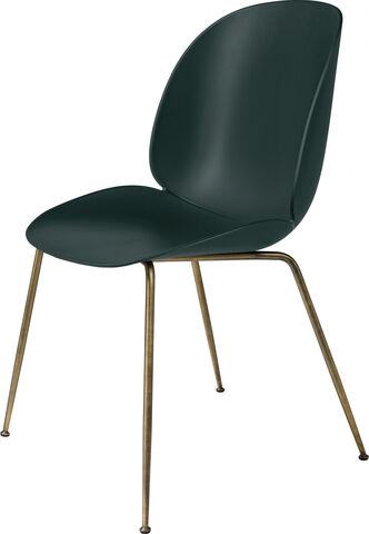 Beetle Dining Chair - Un-Upholstered, Conic base Antique Bra