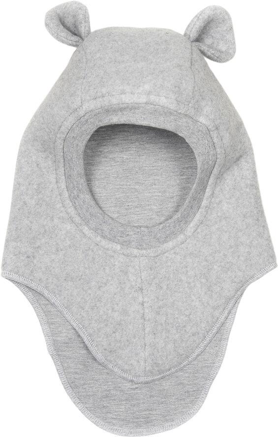 PLYS E-hut L.grey c fleece-jersey w/ears
