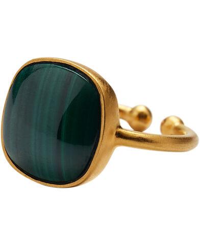 Malachite ring  adjustable