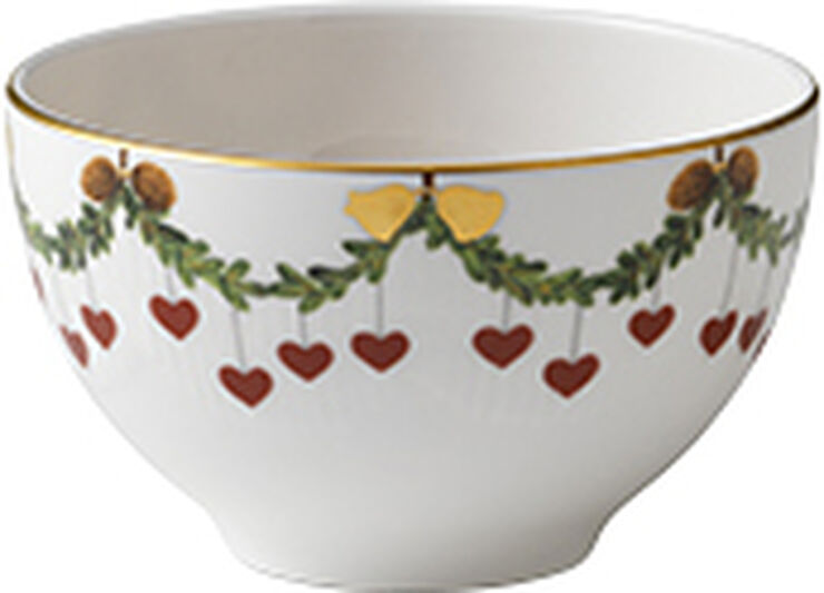 Stjerne Riflet Jul konfekt skål