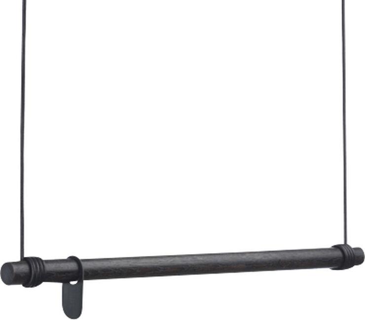 SWING M 80cm OAK black / LEATHER CORD black