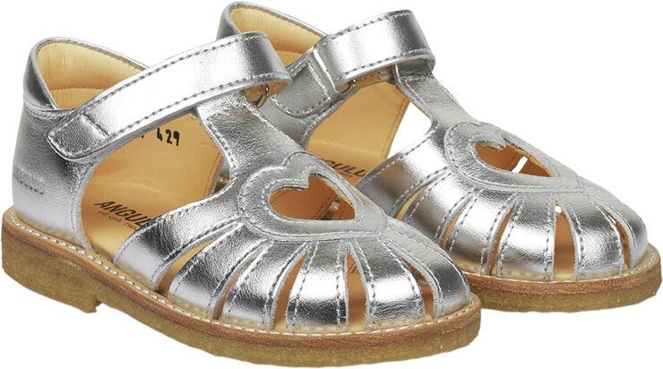 Hjerte sandal med justerbar velcrol