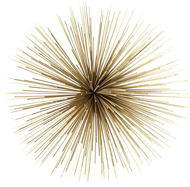 Stardust dekoration Ø35*19 Gold
