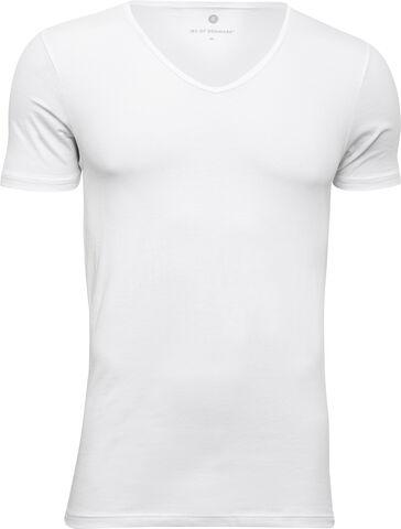 T-shirt med v-hals i bomuld