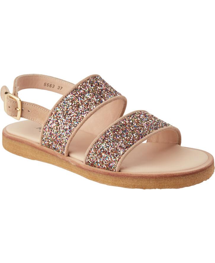 Flad sandal m.spænde