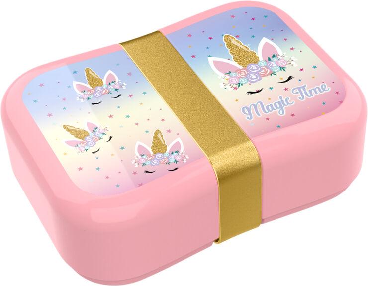 Valiant unicorn magical flower lunch box