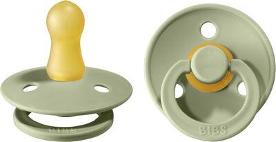 BIBS Colour 2 PACK Latex Size 1 Sage/Sage