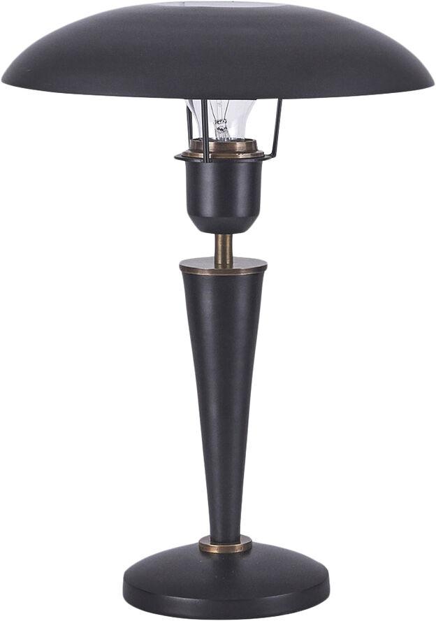 Bordlampe, Opal, Sort, h: 34 cm, E27, - Cb0472