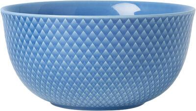 Rhombe Serveringsskål Ø17,5 cm blå porcelæn