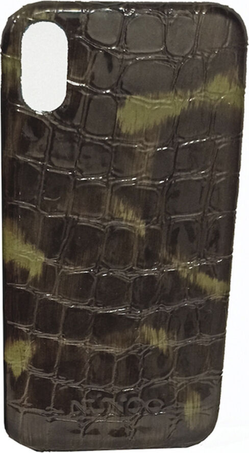 IPhone XS cover croco gloss green/black