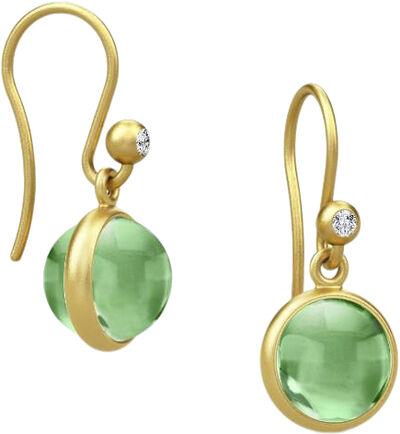 Primini Earrings - Gold/Green