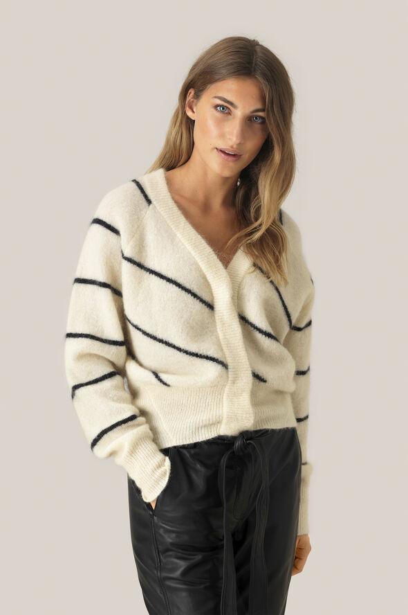 Brook Knit Striped Boxy Cardigan